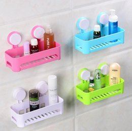 plastic shipping corners NZ - bathroom accessories multifunctional wall mounted plastic bathroom storage shelf double suction up wall shelf holders free shipping