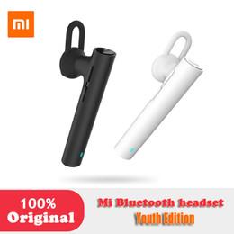 Xiaomi MI Bluetooth-гарнитура наушники молодежное издание комплект зарядки базовый чехол 320Mah аккумулятор для смартфона Bluetooth-гарнитура шумоподавления