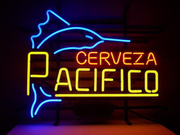 pacifico neon signs 2019 - Fashion New Handcraft Cerveza Pacifico Real Glass Tubes Beer Bar Pub Display neon sign 19x15!!!Best Offer!