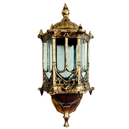 China Bronze antique brass IP65 luxary American European outdoor sconce vintage classical waterproof wall light outdoor wall lamp Wall Lantern cheap vintage antique lamps suppliers