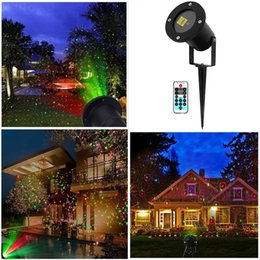 landscape laser NZ - 20PCS Outdoor Projector Light Lawn Spot Lights Strobe Laser Light with Remote Waterproof Landscape Light for XMAS Garden Party decoration