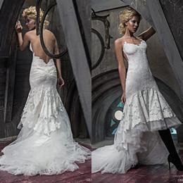 Discount Asymmetrical Mermaid Ruched Wedding Dress 2017