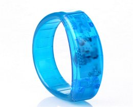 Wholesale Voice control led bracelet sound activated glow bracelet for party clubs concerts dancing christmas