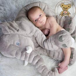 teddy bear christmas gift girlfriend 2019 - Elephant Plush Toy Cute Big Size Stuffed Kids Toy Baby Elephant Pillow Girlfriend Children Christmas Gift cheap teddy be