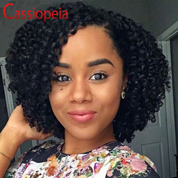 bouncy curly human hair Canada - Bouncy Curly Style Full Lace Human Hair Wigs Bob Brazilian Curly Lace Front Wigs With Baby Hair Full Lace Wigs For Black Women