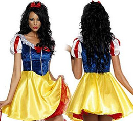 Wholesale sexy cosplay for sale for sale – halloween Hot Sale Adult snow white halloween costumes for women Snow White Princess Costume Women Sexy Dress Cosplay Costume