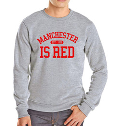 Letter Sweatshirts Canada - New Fashion United Kingdom homme Red Letter Print Sweatshirt Men Cotton O-neck Men's Brand Hip Hop Tracksuit Hoodies