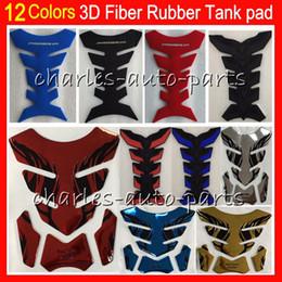 20 colores 3D Rubber Gas Tank Pad Protector Protector Tank stickers calcomanías almohadillas Para HONDA KAWASAKI SUZUKI YAMAHA DUCATI BMW TRIUMPH Agusta Aprilia