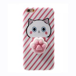 Chinese  Fitted Case Cover for iPhone 6S 6S plus 3D Cute Soft TPU Squishy Case for iPhone 7 7 plus Animals Back Cover manufacturers