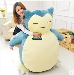 Discount japan presents Dorimytrader Huge 150cm Japan Anime Snorlax Cover Soft Cartoon Doll Toy Present Snorlax without Stuffing DY61329