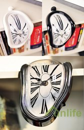 Degree Art Canada - Wholesale-Funlife(TM) 3 Colors Free Shipping 18 x 12cm (7.1*4.7in) Fashion Art 90 Degree Distortion Dali Wall Clock for Home Decoration