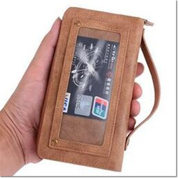 Free Cellphone Cases UK - 2016 hot selling new desig zipper wallet pu leather cellphone case with card holder magnet for cellphone case for iphone samsung DHL free