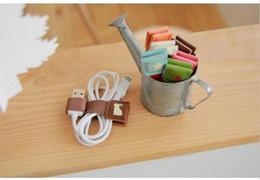 $enCountryForm.capitalKeyWord NZ - Genuine Leather USB Cable winder wrapped Cord Line Plug Bobbin Winder Clip Holder Wrap Wire Organizer wirding thread tool