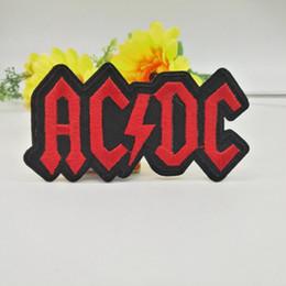 Оптовые продажи~высокое качество панк патч рок группа AC/DC ( 9,5 х 5 см) вышитые аппликация прохладный утюг на патч на Распродаже