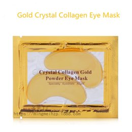 Maquillage Pour Hommes Pas Cher-2016 New Arrival Genuine Gold Crystal Collagen Eye Care Stickers Les hommes vont au Dark Circle Fine Mask Makeup Les gouttes raffermissantes hydratantes Anti-wrin