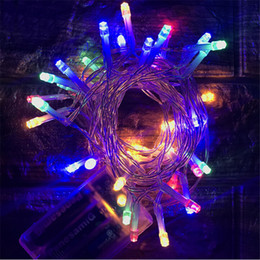 Battery Operated Fairy Lights Purple Canada - DHL LED String Mni Fairy Lights 3XAA Battery Power Operated White Warm White Blue Yellow Green Purple Christmas Lights Christmas Decoration