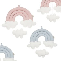 Decorative Wall Curtains Australia - New Rainbow Clouds Ornaments Bed Curtain Accessories Children Room Hanging Decorative Wall Photo Nordic Props