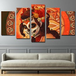 $enCountryForm.capitalKeyWord Australia - HD Printed Day of the Dead Face Group Painting room decor print poster picture canvas decoration Free shipping