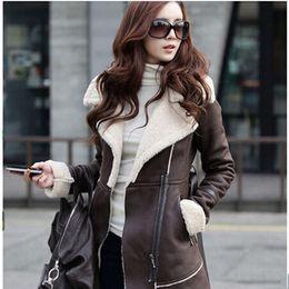 Discount Winter Suede Coat For Women | 2017 Winter Suede Coat For ...