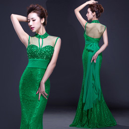 $enCountryForm.capitalKeyWord Canada - High Collar Green Evening Dress Sexy Mersh Hollow Graduation Dress Floor Length Mermaid Sash Prom Dress Sexy Party Dressing