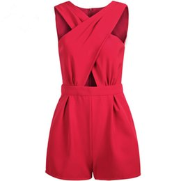 $enCountryForm.capitalKeyWord NZ - Best selling women's summer sexy dress short cross pant charge with pocket pure color Collect waist slim fashion jumpsuit dh-2