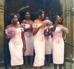 Lavender Blush Wedding Dress Australia - 2018 Blush Pink Bridesmaid Dress African Nigerian Girls Spring Summer Formal Wedding Party Guest Maid of Honor Gown Plus Size Custom Made