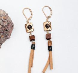 Old gOld pendants online shopping - South Korea velvet Clip on Pendant earrings woman hot style in Europe and America Retro old metal creative Design Dangle Earrings