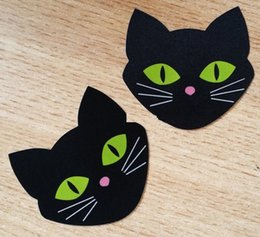 $enCountryForm.capitalKeyWord Canada - 7*6.5cm black cat design Safety environmental protection nipple covers sexy nipple sticker 200pairs one time use cover