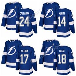 Free Shipping 24 Ryan Callahan Jersey Custom 18 Ondrej Palat 17 Alex  Killorn 14 Chris Kunitz Tampa Bay Lightning 2018 Ice Hockey Jerseys db1b65c64