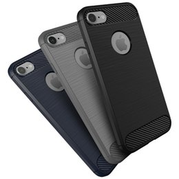 China Brushed Carbon Fiber Hybrid Slim Soft Silicone TPU Shockproof Case Cover For iPhone 5 6 6S 7 Plus Huawei P8 P9 Lite Samsung Galaxy S7 Edge suppliers