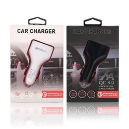 usb power port for car 2019 - 4 Usb Ports 4 in 1 QC 3.0 7A Auto power car charger power adapter car chargers for ipad iphone 7 8 Samsung s6 s7 s8 andr