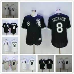 e953c811 ... Men Chicago White Sox Jerseys 8 Bo Jackson Jersey Flexbase Cool Base  Home Away White Red ...