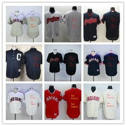 6750addef ... Customized Jerseys Stitched Cleveland Indians Flexbase or Majestic or  Women or Kids any player number any Mens Cleveland Indians Majestic White  ...