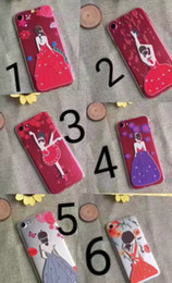 $enCountryForm.capitalKeyWord Canada - For iPhone6s mobile phone soft shell apple 7 big red metal paint back girl girl spray phone cases