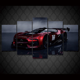 free car posters 2019 - 5 Pcs Set Framed HD Printed citroen racing car 5 pieces Group Painting room decor print poster picture canvas Free shipp