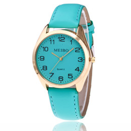 Wholesale fashionable ladies Watches online shopping - Popular fashionable ladies The Arabic numeral lady watch Small pure and fresh and ms strap watch Peach heart digital Quartz watch