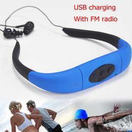 $enCountryForm.capitalKeyWord Canada - Wholesale- 3.8GB underwater waterproof MP3 Player with FM radio head wearing music Players for Diving&swiming&surfing&sports&running IPX8