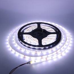 Discount warm 8mm led 5M HOt 3014 SMD 60leds 8mm Width Warm cool white Waterproof IP65 Flexible 300 Leds LED Strips DC 12V New Arrival