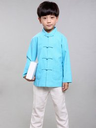 $enCountryForm.capitalKeyWord Canada - 100% Handmade Boys Long Sleeve Kung Fu Tai Chi Martial Arts Kids Jacket #103
