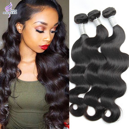 16 inch 1b hair Australia - Modern Show Hair Natural Color 1B Peruvian Body Wave Virgin Hair 3 Bundles 10-20 Inch Peruvian Virgin Human Hair Weaves
