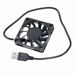 $enCountryForm.capitalKeyWord UK - Wholesale- Gdstime 5pcs lot Mini USB Fan 5V 60mm x 60 mmx10mm 6010s for PC Computer Case Cooling Cooler