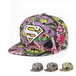 182db0d6a75 Fashion Designer Superman Logo Hip Hop Baseball Hats Flat Brimmed Cotton Cap  Adjustable Snapback Golf Sun Visor For Adults Mens Womens Sale