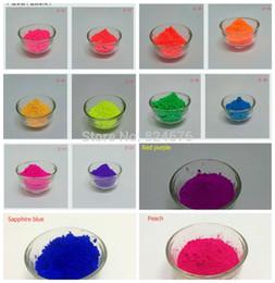 Discount powder pigments for nail art - Wholesale- Mixed 5 Colors Neon Powder Fluorescence Pigment Phosphor Powder Fluorescent Powder for Make up Nail art DIY S