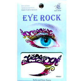 Autocollants Pour Les Yeux Pas Cher-Livraison gratuite 12pieces HSA fourre-tout design mix Waterproof left Right in 1bags tatouage temporaire visage oeil tatouage sticker eye rock pour fête