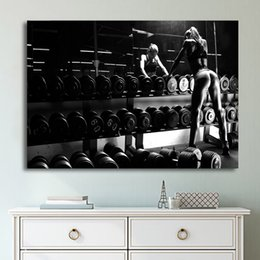 art bodybuilding 2019 - 1 Pcs Set Framed HD Printed Bodybuilding Equipment Wall Art Canvas Pictures For Living Room Bedroom Home Decor Painting