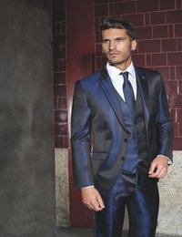 Navy Blue Shiny Suit Jacket Online | Navy Blue Shiny Suit Jacket ...