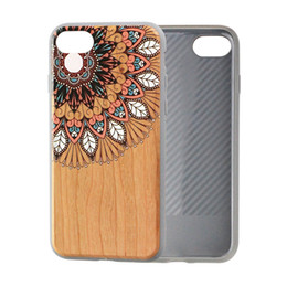 Rubber Coating Cover UK - Ultra Slim Drop-protection Wood Print Rubber Coating Cell Phone Case Cover for iPhone 8 for iPhone X Protective Cover