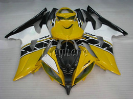 yamaha r6 plastics abs Canada - Bodywork ABS plastic fairings for Yamaha YZF R6 08 09 10 11-15 yellow white black injection mold fairing kit YZFR6 2008-2015 YT30