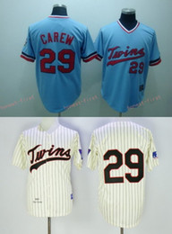 aebef9dc ... Minnesota Twins 29 Rod Carew Home Away Baseball Jersey White Red Grey  Cream Throwback Retro Cool Mens Cooperstown ...
