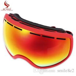 ski big goggles 2019 - BENICE UV Protection Anti-fog Big Skiing Goggles Men Women Snowboarding Glasses 5 Colors Ski Eyewear +B cheap ski big go